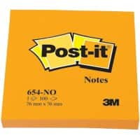 Post-it Haftnotizen 76 x 76 mm Neon Orange 100 Blatt
