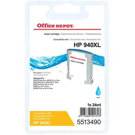 Kompatible Office Depot Tintenpatrone HP 940XL C4907AE Cyan