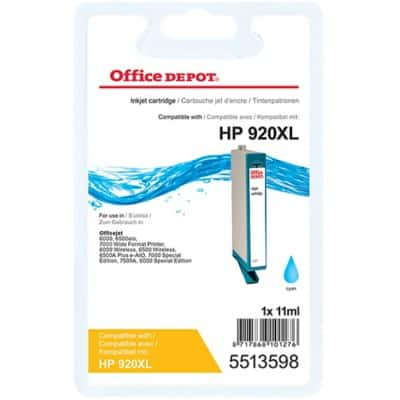 Kompatible Office Depot HP 920XL Tintenpatrone CD972A Cyan