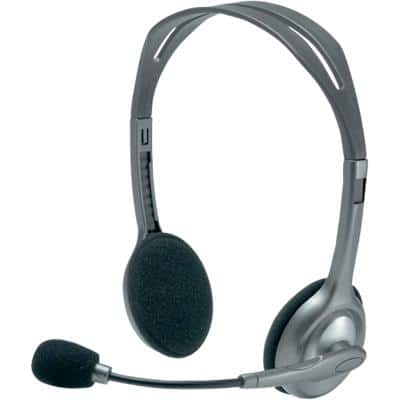 Logitech Wired-Headset H 110 silber, grau