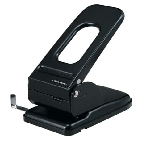 Office Depot Registraturlocher Heavy Duty Schwarz 65 Blatt 2-fach