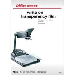 Office Depot Folie 100 Micron DIN A4 Transparent 100 Blatt