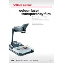 Office Depot Overhead-Folien 125 Micron DIN A4 Transparent 50 Blatt