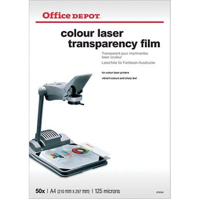 Office Depot Overhead-Folien DIN A4 Transparent 50 Blatt