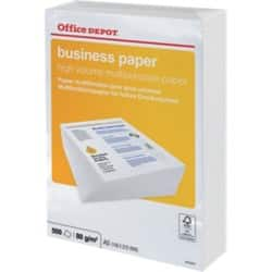 Office Depot Business Kopierpapier DIN A5 80 g/m² Weiß 500 Blatt