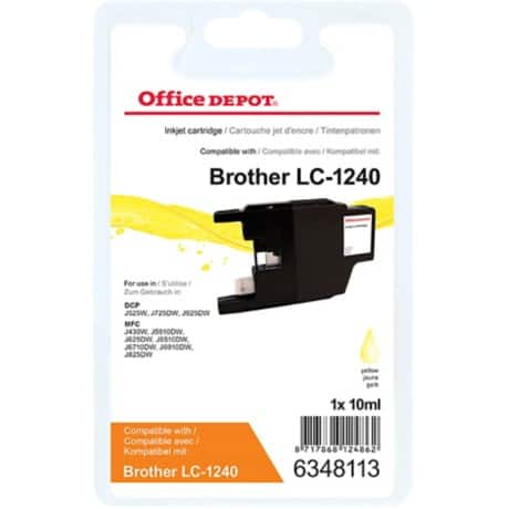 Office Depot Kompatibel Brother LC1240Y Tintenpatrone Gelb