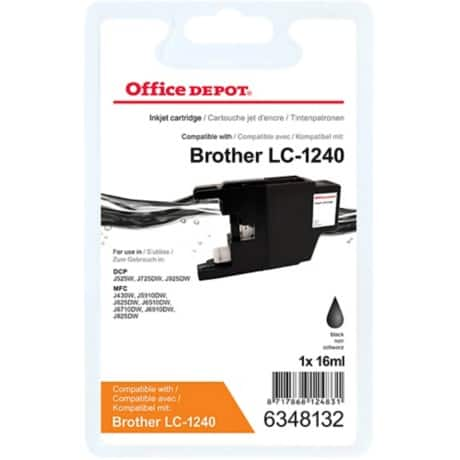 Kompatible Office Depot Brother LC1240BK Tintenpatrone Schwarz