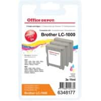 Kompatible Office Depot Brother LC1000 Tintenpatrone 3 Farbig 3 Stück