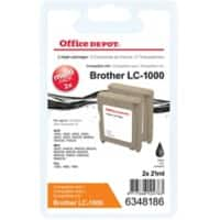 Kompatible Office Depot Brother LC1000BK Tintenpatrone Schwarz 2 Stück