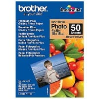 Brother Fotopapier BP71GP50 DIN A6 190 g/m² Weiß