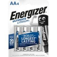 Energizer AA Batterien CR6 Ultimate 1,5 V Lithium 4 Stück