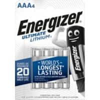 Energizer AAA Batterien CR03 Ultimate 1,5 V Lithium 4 Stück