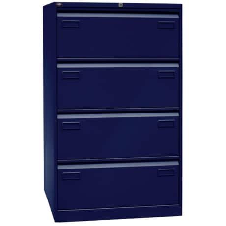 Bisley Light Hängeregistraturschrank Oxfordblau 80 x 62,2 x 132,1 cm