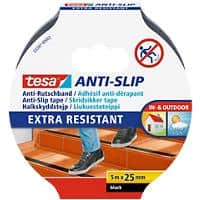 tesa Extra Resistant Anti-Rutsch-Band 25mm x 5m Schwarz