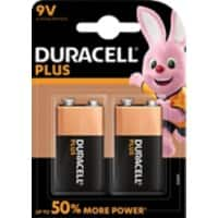 Duracell Batterie Plus Power 9V 2 Stück