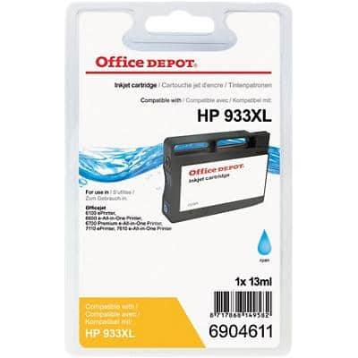 Kompatible Office Depot HP 933XL Tintenpatrone CN054E Cyan