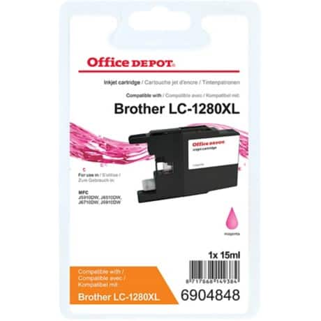 Office Depot Kompatibel Brother LC1280XLM Tintenpatrone Magenta