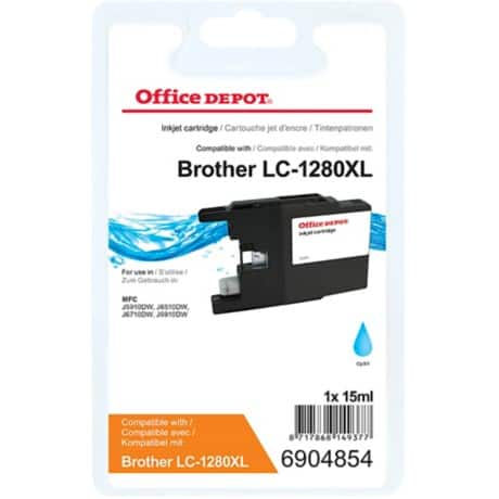 Office Depot Kompatibel Brother LC1280XLC Tintenpatrone Cyan