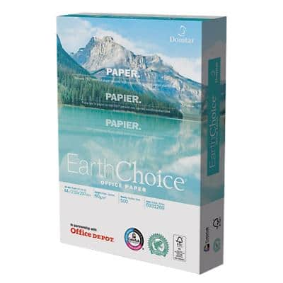 Office Depot Earth Choice Multifunktionspapier DIN A4 80 g/m² Weiß 500 Blatt