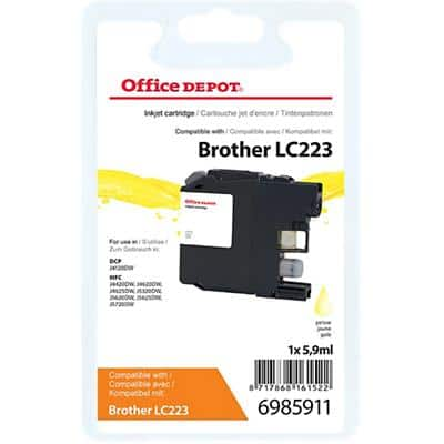 Kompatible Office Depot Brother LC223Y Tintenpatrone Gelb