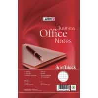 LANDRÉ Briefblock  Business Office Notes Weiß Kariert Ungelocht DIN A5 14,8 x 21 cm 50 Blatt