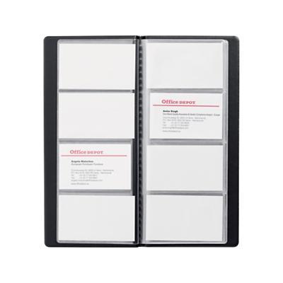 Office Depot Visitenkartenbuch Din A4 96 Karten Schwarz 11 5 X 0 3 X 25 5 Cm