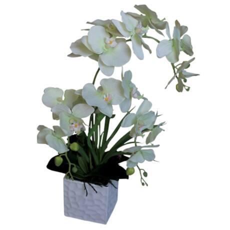 k nstliche pflanze orchideen wei gr n viking deutschland. Black Bedroom Furniture Sets. Home Design Ideas