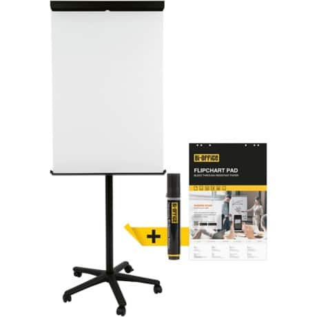 Bi-Office Flipchart Mobile Black 75 x 200 cm