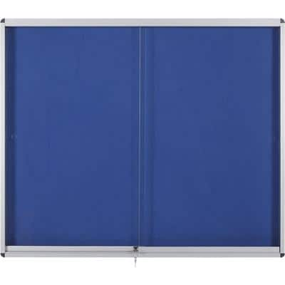 Bi-Office Schaukasten Exhibit Felt Blau 96,7 x 92,6 cm