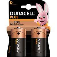 Duracell D Alkali-Batterien Plus Power MN1300 LR20 1,5 V 2 Stück