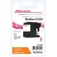 Kompatible Office Depot Brother LC223M Tintenpatrone Magenta