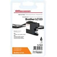Kompatible Office Depot Brother LC123 Tintenpatrone Schwarz