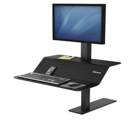 Fellowes Sitz-Steh Workstation Lotus VE für 1 Monitor Schwarz