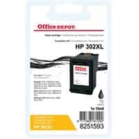 Kompatible Office Depot HP 302XL Tintenpatrone F6U68AE Schwarz
