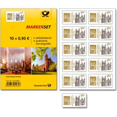 deutsche post briefmarken selbstklebend 0 90 10 st ck. Black Bedroom Furniture Sets. Home Design Ideas