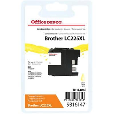 Kompatible Office Depot Brother LC225XL Tintenpatrone Gelb