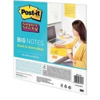 Post-it Meeting Chart Big Note Super Sticky Gelb 95 g/m² 27,9 x 27,9 cm