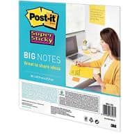 Post-it Haftnotizen Super Sticky Blanko 279 x 279 mm Gelb 30 Blatt